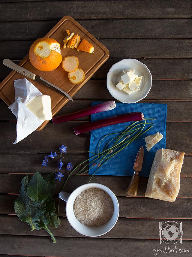 Ingredienti risotto con borraggine