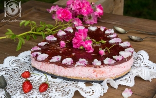 Cheesecake alle rose