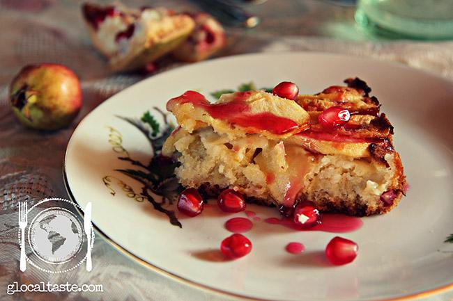 torta-di-mele-glassa-di-melograno