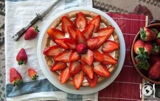 crostata ricotta fragole